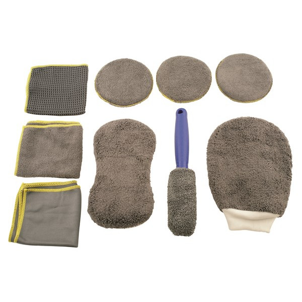 Microfibre Cleaning Kit - 9 Piece Set