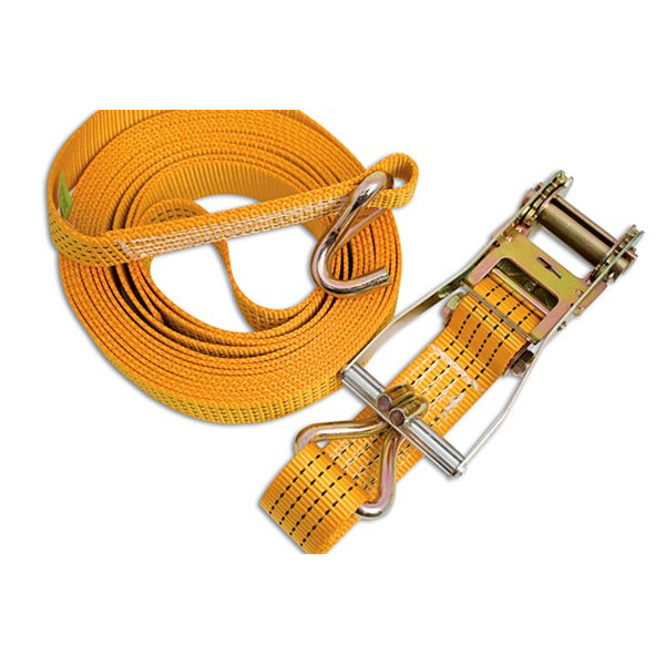 Ratchet Tie Down Strap With Hooks - 8m x 50mm