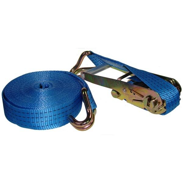 Ratchet Tie Down Strap & Hooks - 10m x 50mm