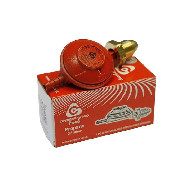 Low Pressure Regulator Propane 37mbar x 8mm Nozzle