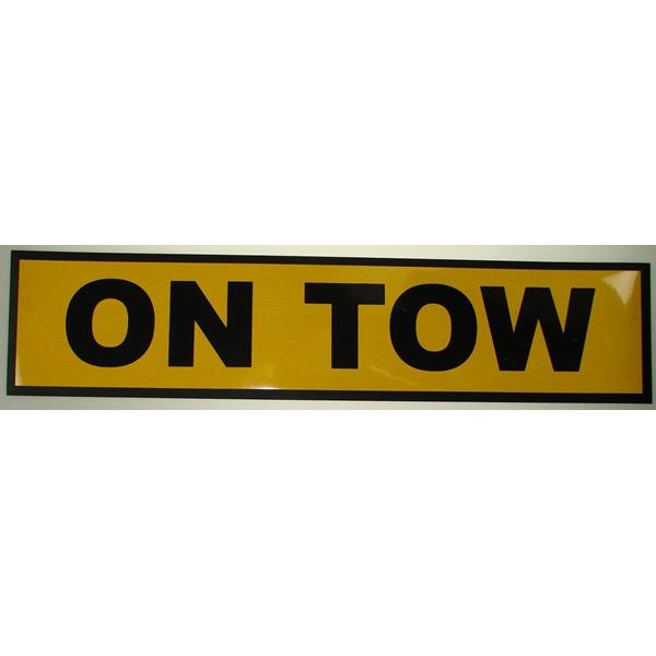 Magnetic 'On Tow' Plate