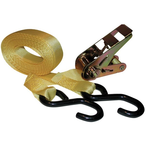 Kwiklok Ratchet Tie Down Strap & Hooks - 5m