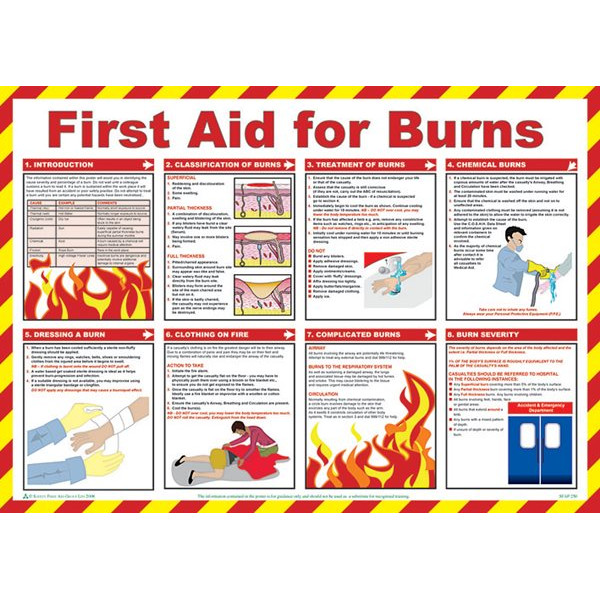 First Aid For Burns Poster - 59cm x 42cm