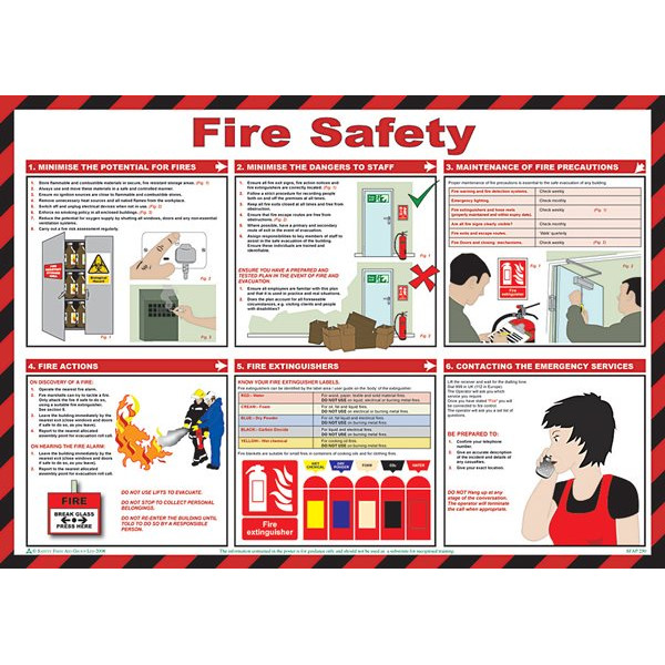 Fire Safety Poster - 59cm x 42cm