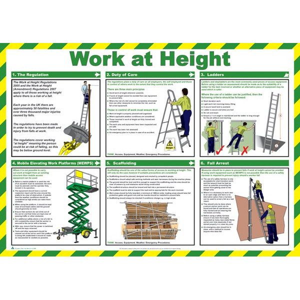 Work at Height Poster - 59cm x 42cm