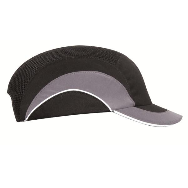 Hardcap A1+ with Short Peak (5cm) - Black & Grey