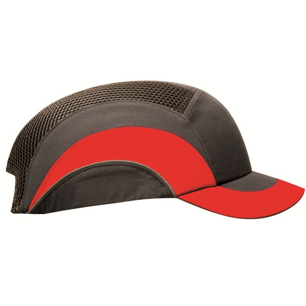 Hardcap A1+ with Short Peak (5cm) - Grey & Red