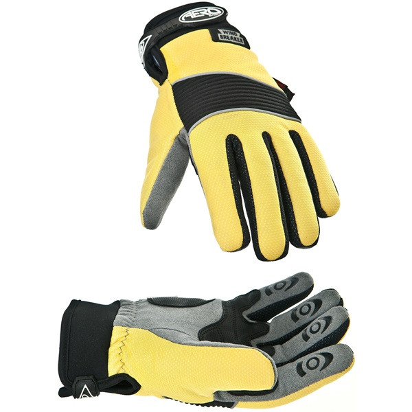 AeroShield Hi-Vis Windbreaker Cycle Gloves - Medium