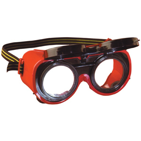 GW5 Flip-Up Gas Welding Goggles - Red