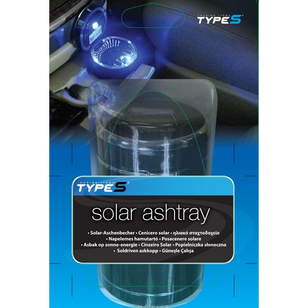 Classic Solar Ashtray - Black