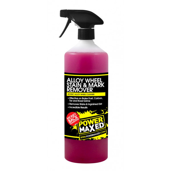 Power Maxed Alloy Wheel Stain And Mark Remover 1Ltr Ready To Use