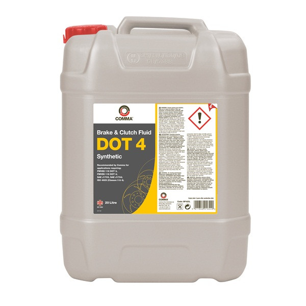 DOT 4 Synthetic Brake & Clutch Fluid - 20 Litre