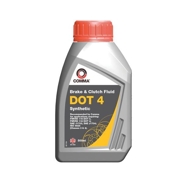 DOT 4 Synthetic Brake & Clutch Fluid - 500ml
