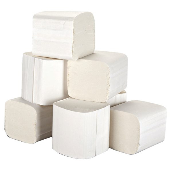 2 Ply White Toilet Tissues - 36 Packs of 250 Sheets