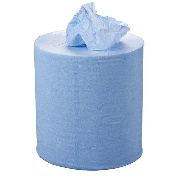 1 Ply Blue Centrefeed Roll - 300m x 190mm - Pack of 6
