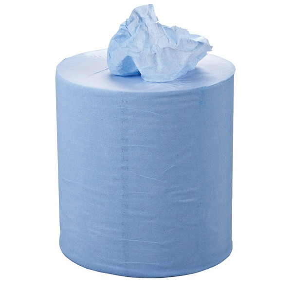 2 Ply Blue Centrefeed Roll - 120m x 190mm - Pack of 6