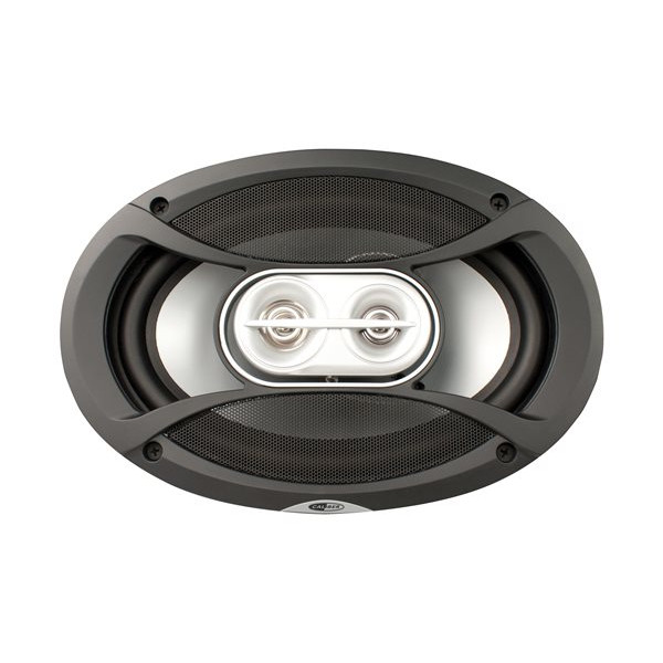 Speakers - 3-Way Coaxial with Grills - 6x9in.