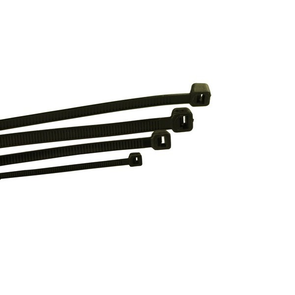 Cable Ties - Standard - Black - 300mm x 4.8mm - Pack Of 100