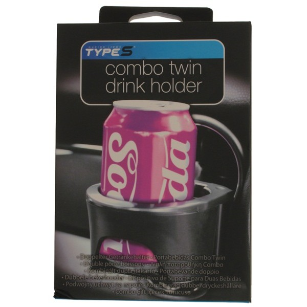 Combo Twin Drink Holder - Black