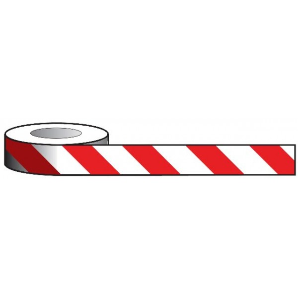 Aisle Marking Tape - Red/White - 33m x 50mm