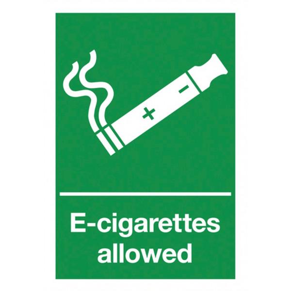 E-Cigarettes Allowed Sign - Rigid Polypropylene - 297mm x 210mm