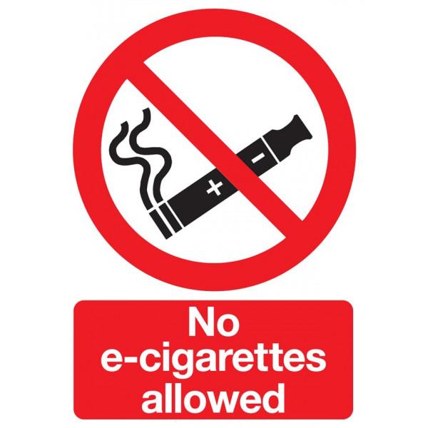 No E-Cigarettes Allowed Sign - Rigid Polypropylene - 297mm x 210mm