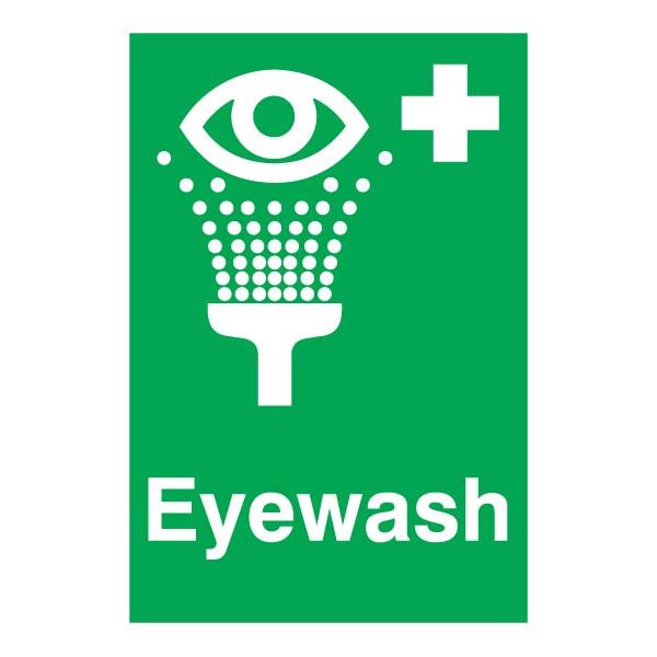 Eyewash Sign - Rigid Polypropylene - 297mm x 210mm