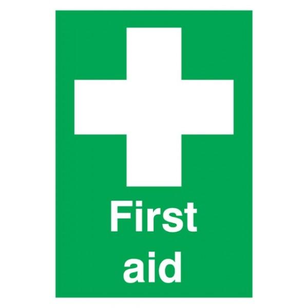 First Aid Sign - Rigid Polypropylene - 210mm x 148mm
