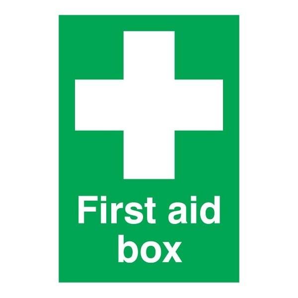First Aid Box Sign - Rigid Polypropylene - 210mm x 148mm