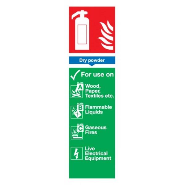 Dry Powder Extinguisher Sign - Rigid Polypropylene - 300mm x 100mm
