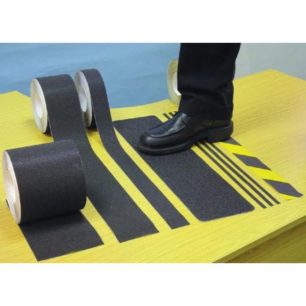 Anti-Slip Tape - Black & Yellow - 18m x 50mm