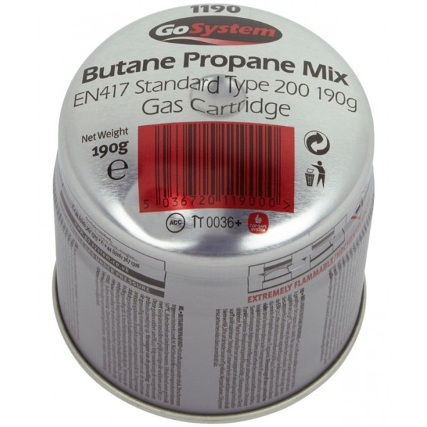 190g Pierceable Butane/Propane Gas Cartridge - Pack of 36
