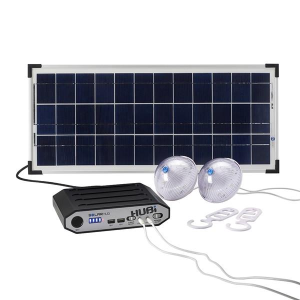 HUBi 10K Solar Power Lighting & Charging Kit
