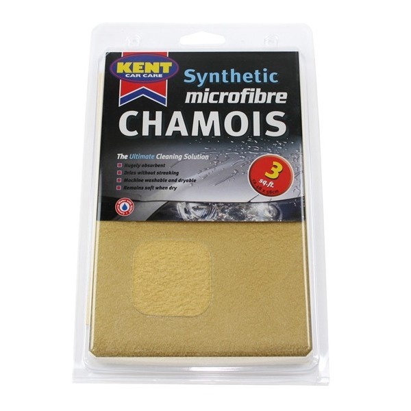 Microfibre Synthetic Chamois Leather - 3 Square Foot - Bagged