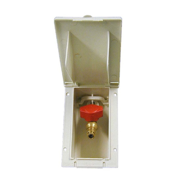 Gas Outlet Box c/w Valve - Signal White