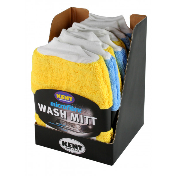 Microfibre Wash Mitt - CDU Of 8