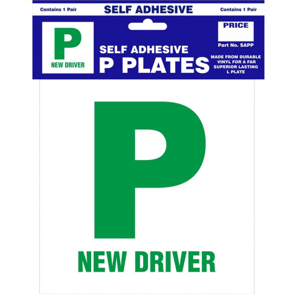 P Plates - Self Adhesive - Pair