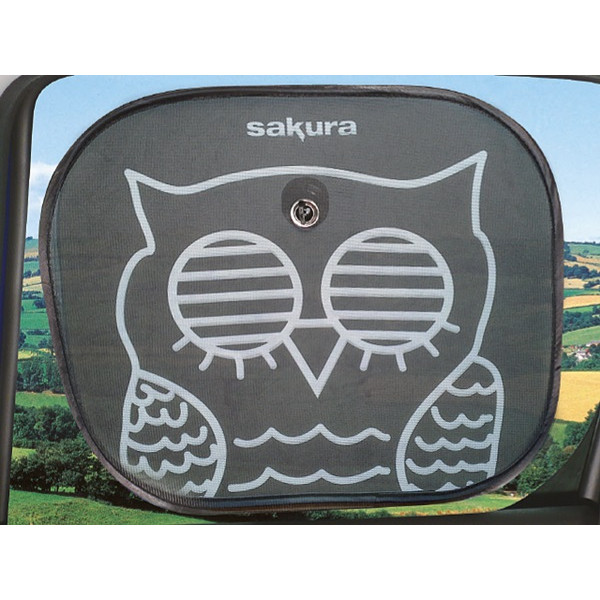 Side Sunshades - Pop Up - Owl - Pack of 2