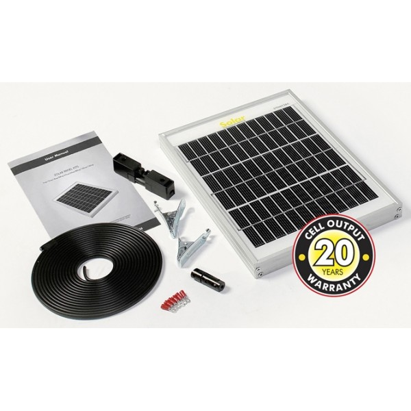 Solar Panel With Cable & Connectors - 5Wp