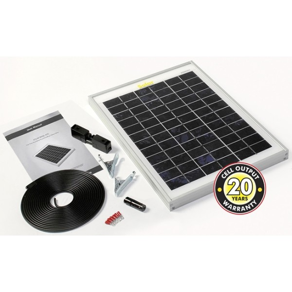 Solar Panel With Cable & Connectors - 10Wp